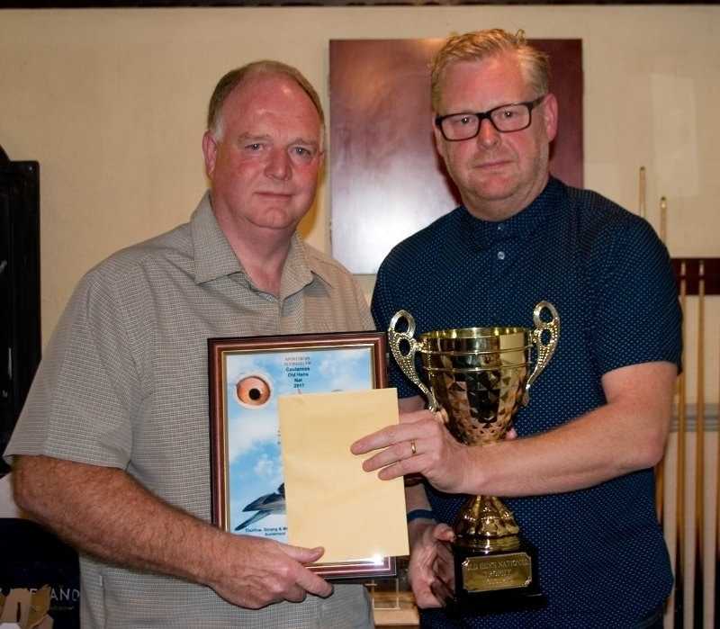 Les Thurlow & Nick Adshead - Thurlow Strong & McCluskey winners of 1st Coutances Nat Old Hens