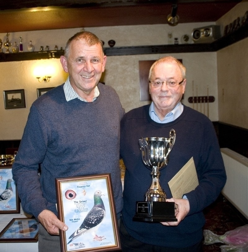 Bob McKie 2nd & 3rd Section N Ancenis pictured with Rod Adams