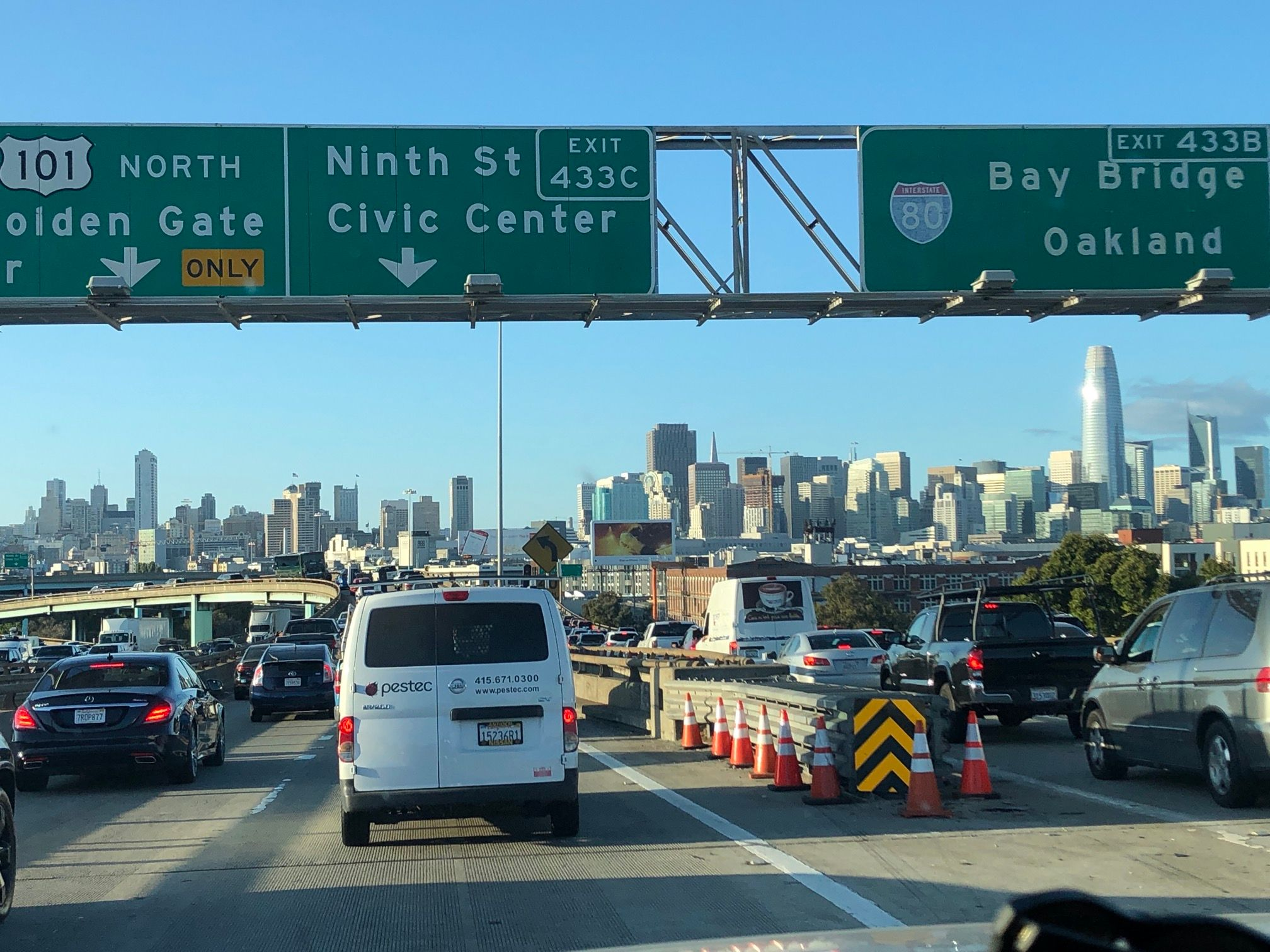 Getting into San Francisco after 3 days of driving