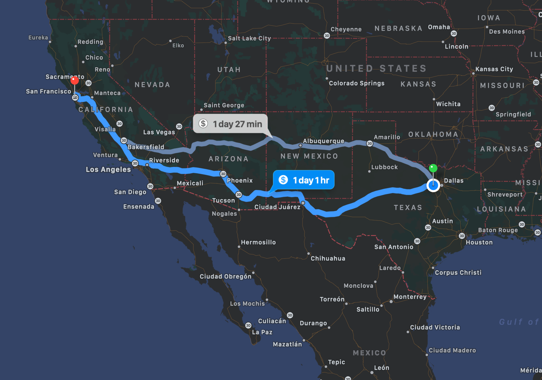 Fort Worth to San Francisco