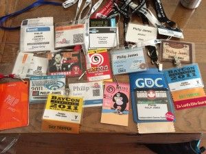 A sample of my badge collection.