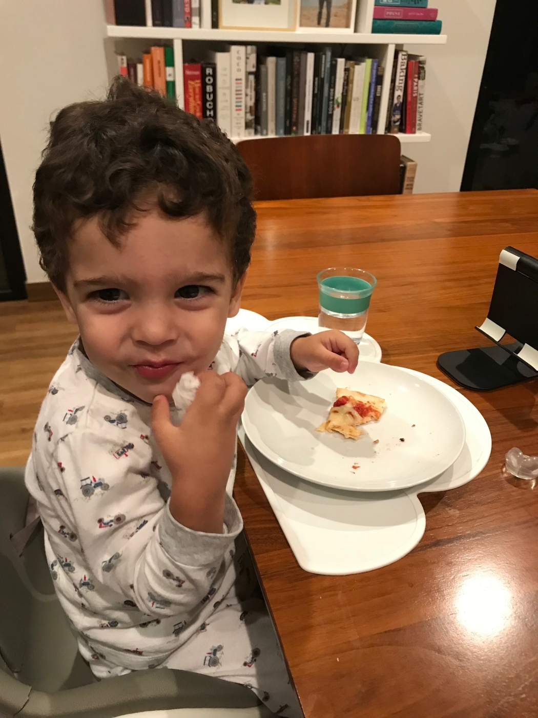 after the birth of my children – and tied with my wedding – this is the happiest day of my life. shared my first pizza with robie completely out of his request.