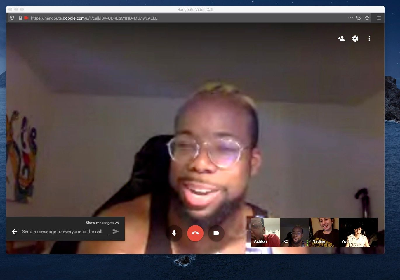 screenshot of group video chat