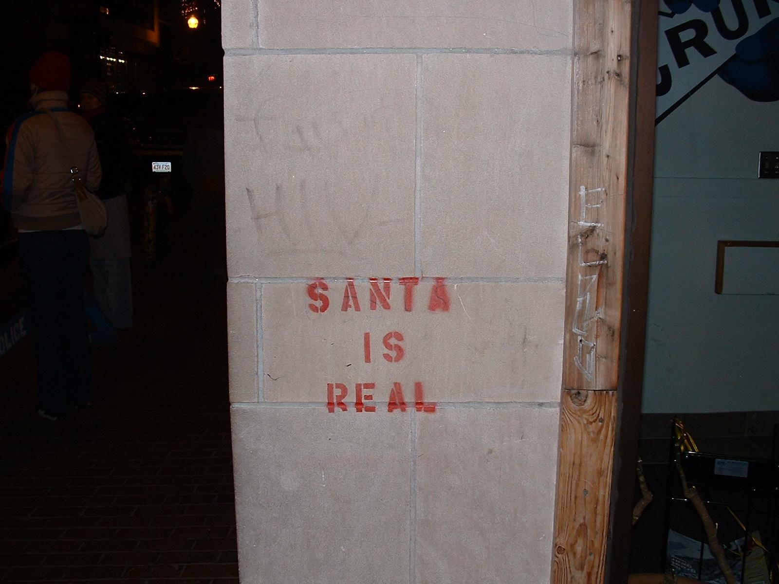 santa is real.