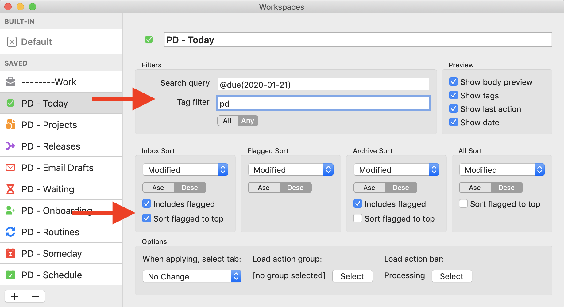 Manage Workspace Settings