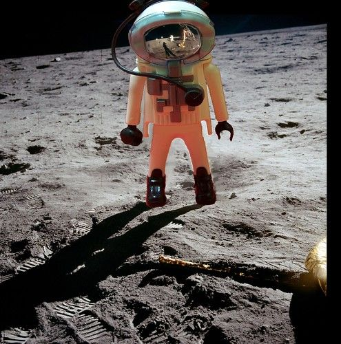 First Playmobil on the Moon