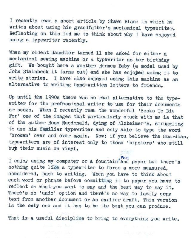 Typewriting