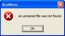 An unnamed file was not found