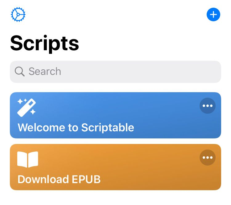 Download EPUB script in Scriptable