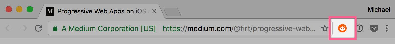 Find on Reddit in the Chrome menu bar